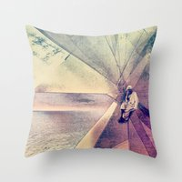 Coral House Throw Pillow