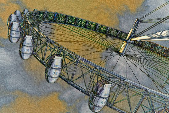 The London Eye Art Art Print
