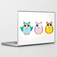 owls Laptop & iPad Skins featuring owls by Li-Bro