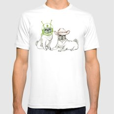 Cowboys & Aliens White Mens Fitted Tee SMALL