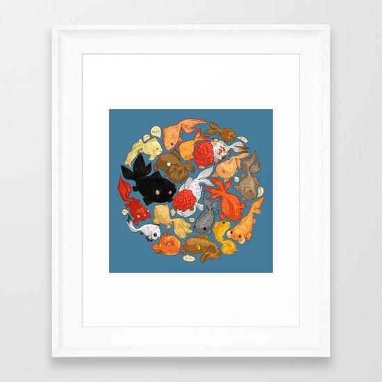 For The Love Of Goldfish Framed Art Print