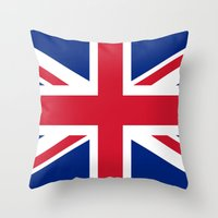 Union Jack Authentic color and scale 3:5 Version  Throw Pillow