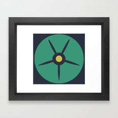 MCM Petunia Framed Art Print