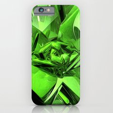 Glowing Green Abstract iPhone 6 Slim Case