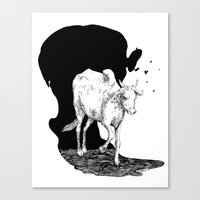 COW IS GOD Canvas Print