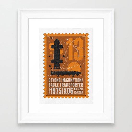 Beyond imagination: Space 1999 postage stamp  Framed Art Print