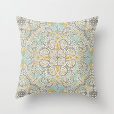Gypsy Floral In Soft Neu… Throw Pillow