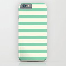 Mint Green Stripes  iPhone 6s Slim Case