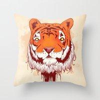 Man Eater  Throw Pillow