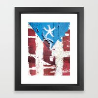 Puerto Rico Flag Framed Art Print