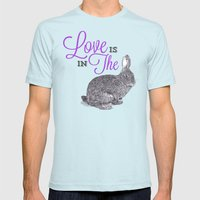 Love is in the hare. Mens Fitted Tee Light Blue SMALL