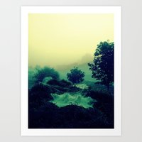 Dewey, Misty Morning Art Print