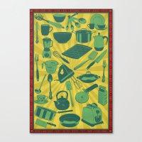 Kitchenware!  Canvas Print