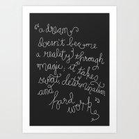 Dream and Do Art Print