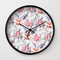 Mushroom pattern Wall Clock