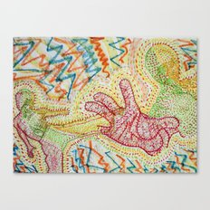 Kung Fu's Vibrations Canvas Print