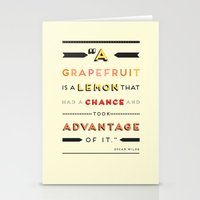 Oscar Wilde: A Grapefrui… Stationery Cards
