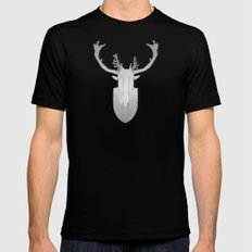 antlers on antlers on antlers Mens Fitted Tee Black SMALL