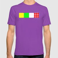 Tour de France Jerseys Alt 1 White Mens Fitted Tee Ultraviolet SMALL