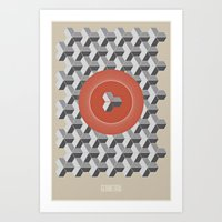 Geometria | Orange Art Print