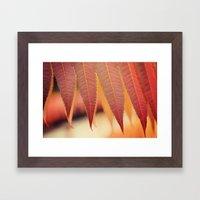 Fiery Fall Framed Art Print