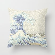 Riders On The Great Wave Throw Pillow
