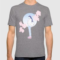 Spring Mens Fitted Tee Tri-Grey SMALL