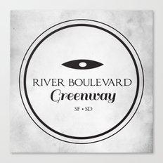 River Boulevard Greenway Canvas Print