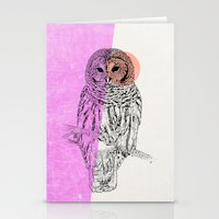 Techno Owl Stationery Cards