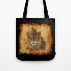 The Lion Papyrus - Big Cat Artwork Tote Bag