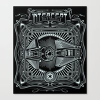 Intercept Canvas Print