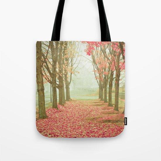 Scarlet Autumn Tote Bag