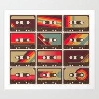 Mixed Tapes Art Print