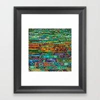 :: Technicolor Walkway :… Framed Art Print