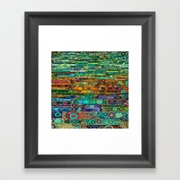 :: Technicolor Walkway :: Framed Art Print