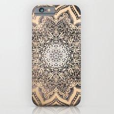 GOLD EARTH FLOWER MANDALA iPhone 6 Slim Case