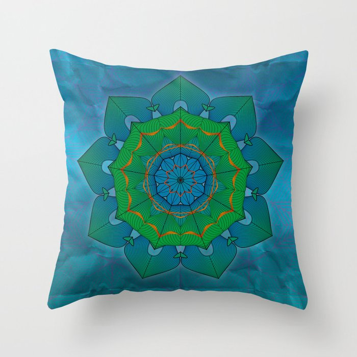Lotus Throw Pillow by Angelo Cerantola Society6