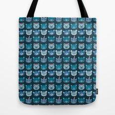 Cute Bear Faces Pattern Tote Bag