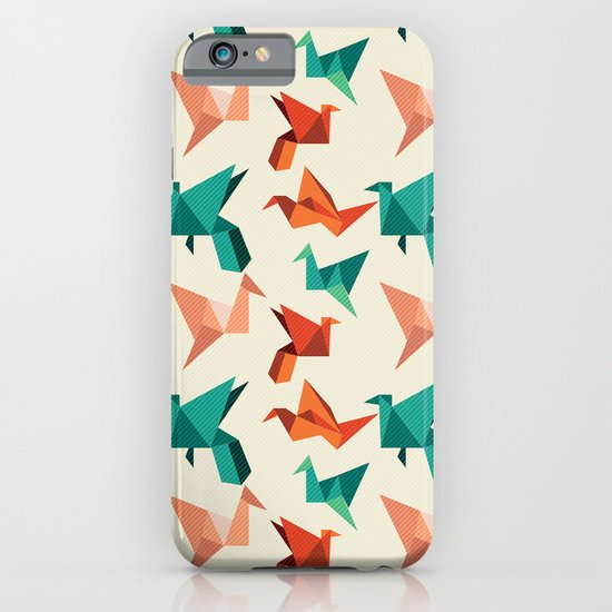 teal paper cranes iPhone & iPod Case