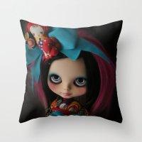 MODERN GEISHA CUSTOM BLY… Throw Pillow