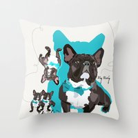 Chauncey Loves You - Fre… Throw Pillow