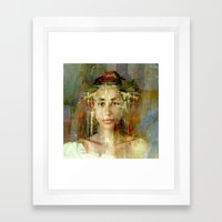 Princess Aztec Framed Art Print