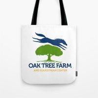 Horse Jumping Over Oak Tree Retro Tote Bag