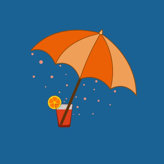 big cocktail umbrella Art Print