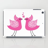bird kiss iPad Case