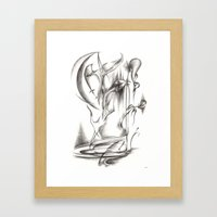 New Moon Melody Framed Art Print