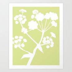 Ferula in Meadow Green - Original Floral Botanical Papercut Design Art Print