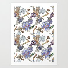 Ocarina Patterns Art Print