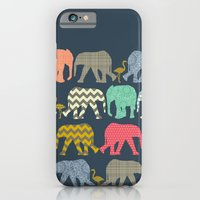 iPhone & iPod Case featuring baby elephants and flamingos by Sharon Turner