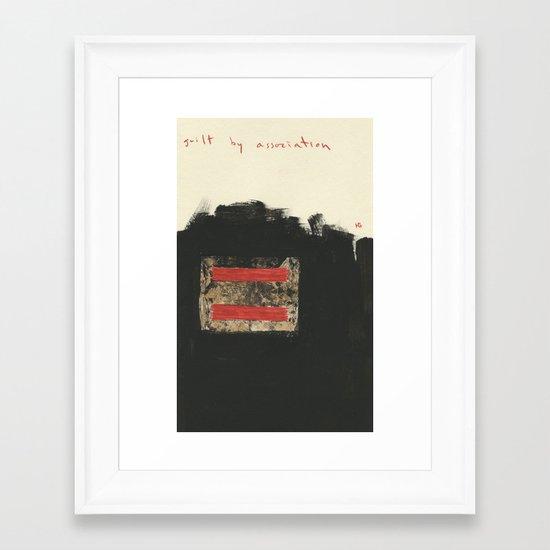 Guilt by Association Framed Art Print